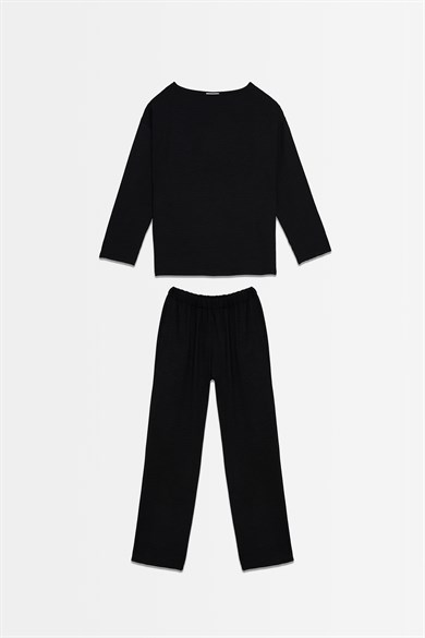 BLACK COTTON SUIT